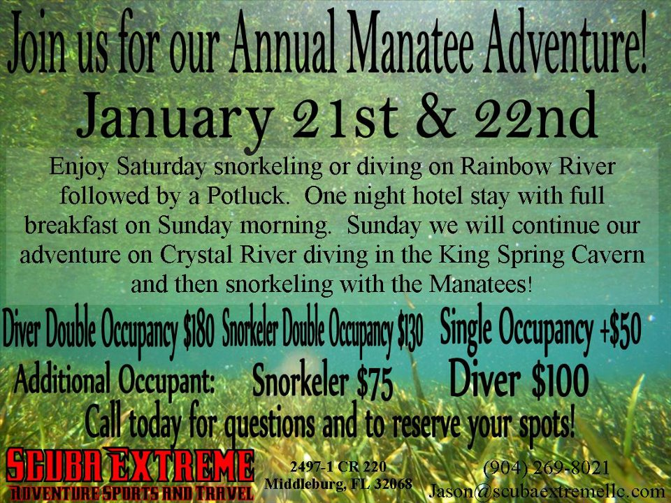 ScubaExtreme 2012 Annual Manatee Rainbow and Crystal River Trip
